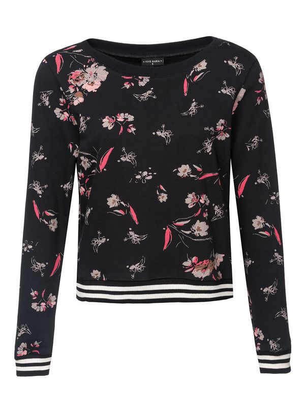 Vive Maria Cosy Flower Sweater schwarz allover Ansicht