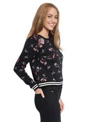 Vive Maria Cosy Flower Sweater schwarz allover – Bild 1