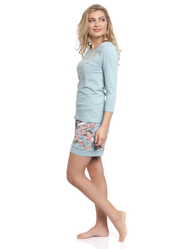 Vive Maria Wild China Girl Short Pyjama turquoise allover – Bild 4