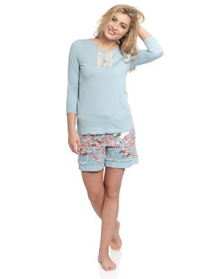 Vive Maria Wild China Girl Short Pyjama turquoise allover – Bild 1