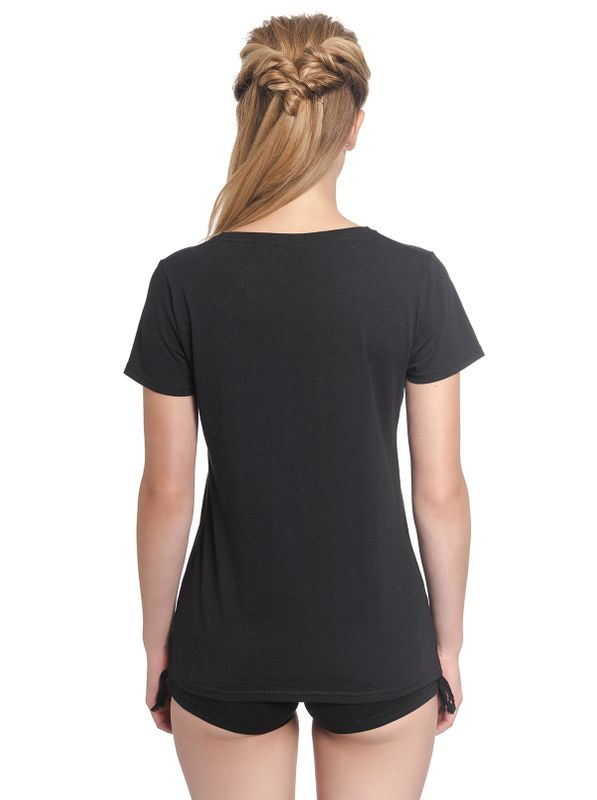 Alice in Wonderland Black Flower Girl Tee Shirt black – Bild 4