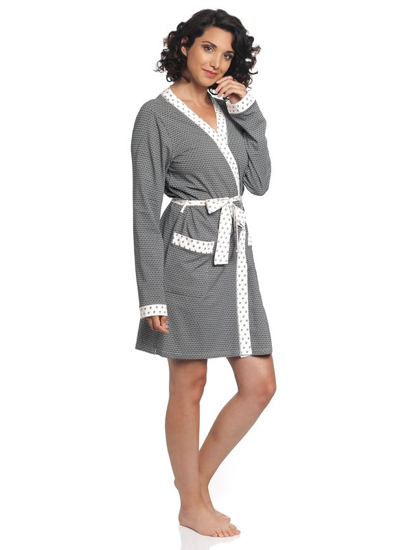 Vive Maria La Fillette Dressing Gown black allover – Bild 3