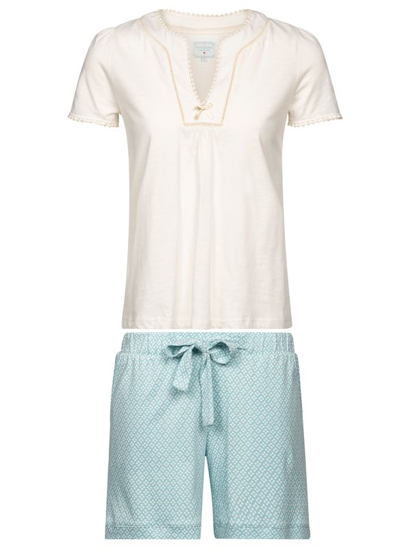 Vive Maria Bonbon Short Pyjama white/lightblue allover – Bild 0