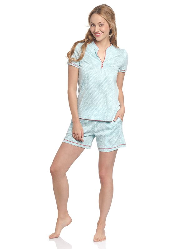 Vive Maria Bonbon Sucrée Short Pyjama lightblue allover – Bild 1