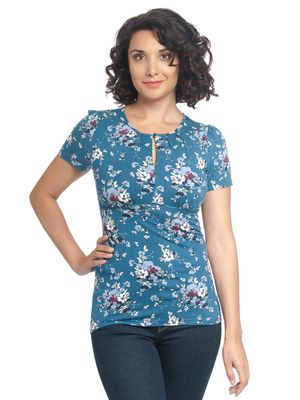 Vive Maria Mon Amour Shirt blue allover – Bild 1