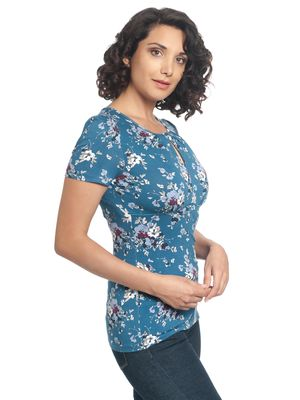 Vive Maria Mon Amour Shirt blue allover – Bild 3