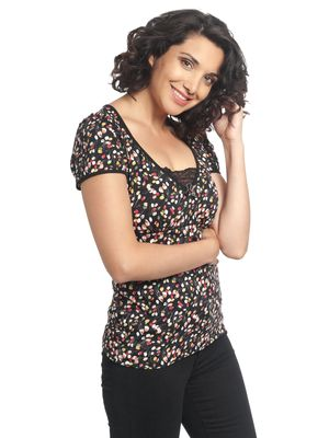 Vive Maria La Tulipe Shirt black allover – Bild 3