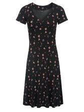 Vive Maria Blooming Retro Dress black allover – Bild 0