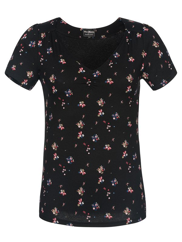 Vive Maria Blooming Day Shirt black allover – Bild 0