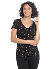 Vive Maria Blooming Day Shirt black allover – Bild 1