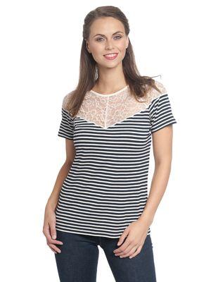 Vive Maria Brighton Lace Shirt blue/cream – Bild 1