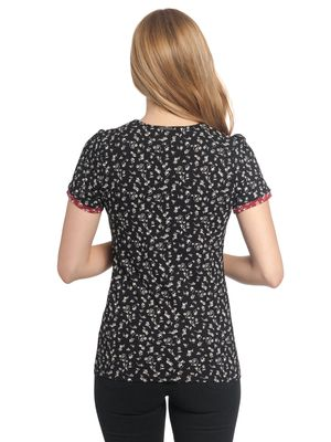 Vive Maria Holiday Girl Shirt black allover – Bild 2