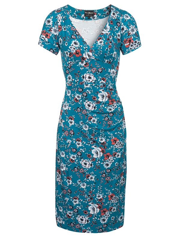 Vive Maria Flower Garden Dress  azure allover Ansicht