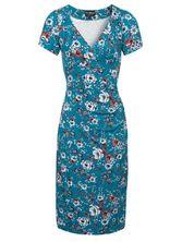 Vive Maria Flower Garden Dress  azure allover – Bild 0
