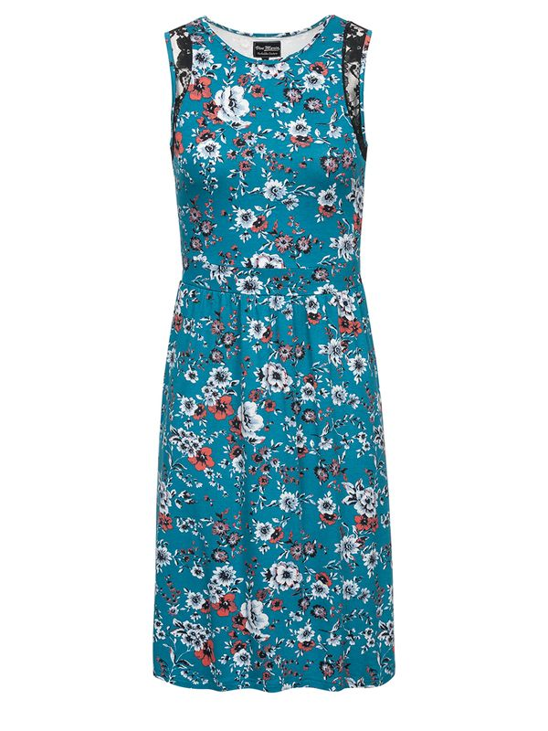 Vive Maria Flower Dream Kleid Petrol allover Ansicht