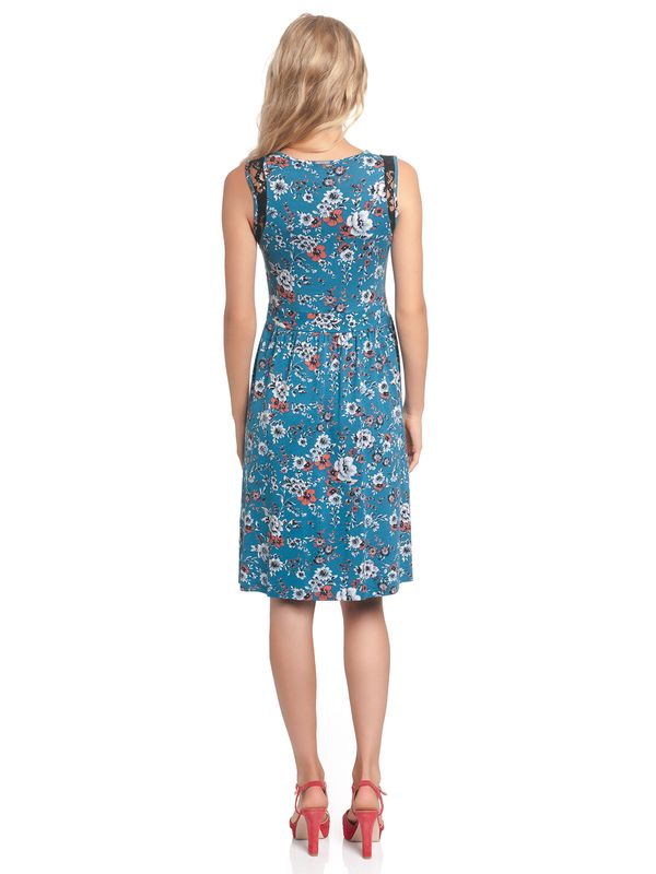Vive Maria Flower Dream Kleid Petrol allover – Bild 3