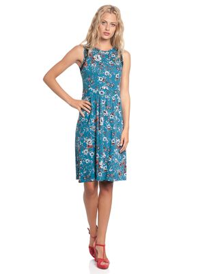 Vive Maria Flower Dream Kleid Petrol allover – Bild 1