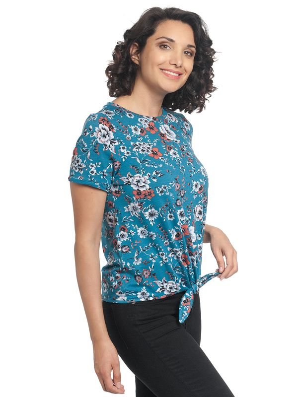 Vive Maria Flower Day Tee azure allover – Bild 3
