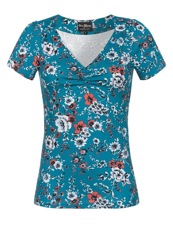 Vive Maria Flower Dream Shirt  azure allover – Bild 0
