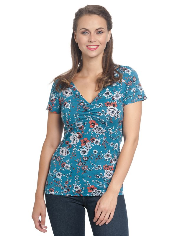 Vive Maria Flower Dream Tee  azure allover – Bild 1