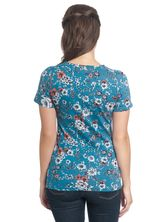 Vive Maria Flower Dream Tee  azure allover – Bild 2