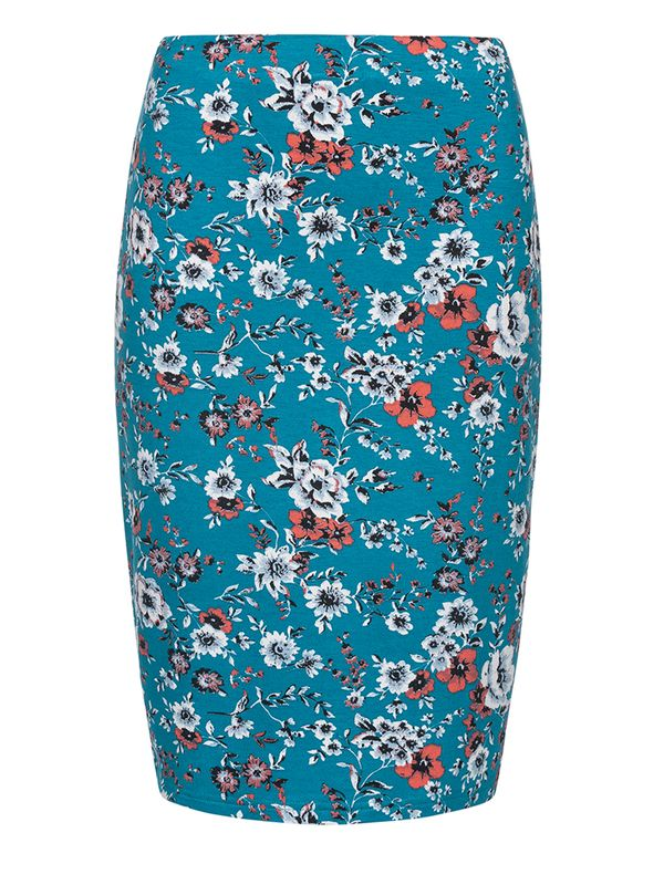 Vive Maria Flower Garden Skirt azure allover view