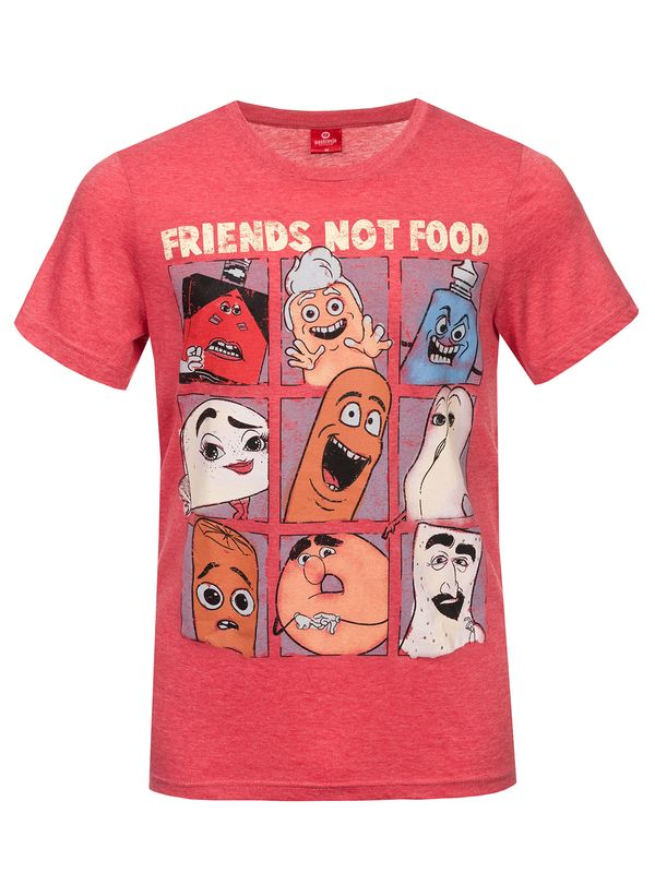 Sausage Party Friends Not Food Herren T-Shirt Rot Melange – Bild 2