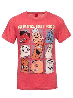 Sausage Party Friends Not Food Herren T-Shirt Rot Melange – Bild 1
