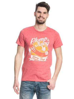 Sausage Party Plump & Juicy Herren T-Shirt Rot-Melange – Bild 0
