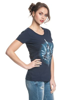 Assassin's Creed Vulpture Damen T-Shirt Dunkelblau – Bild 1