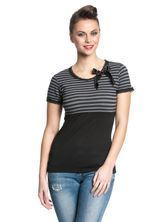 Pussy Deluxe Best Stripes Shirt black/grey – Bild 1