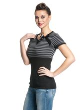 Pussy Deluxe Best Stripes Shirt black/grey – Bild 2