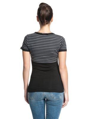 Pussy Deluxe Best Stripes Shirt schwarz/grau – Bild 3