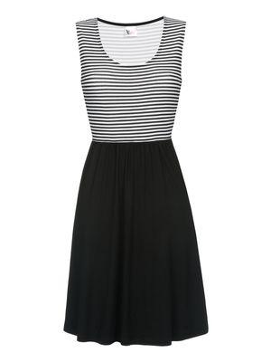 Pussy Deluxe Best Stripes Dress Kleid schwarz/weiss – Bild 0