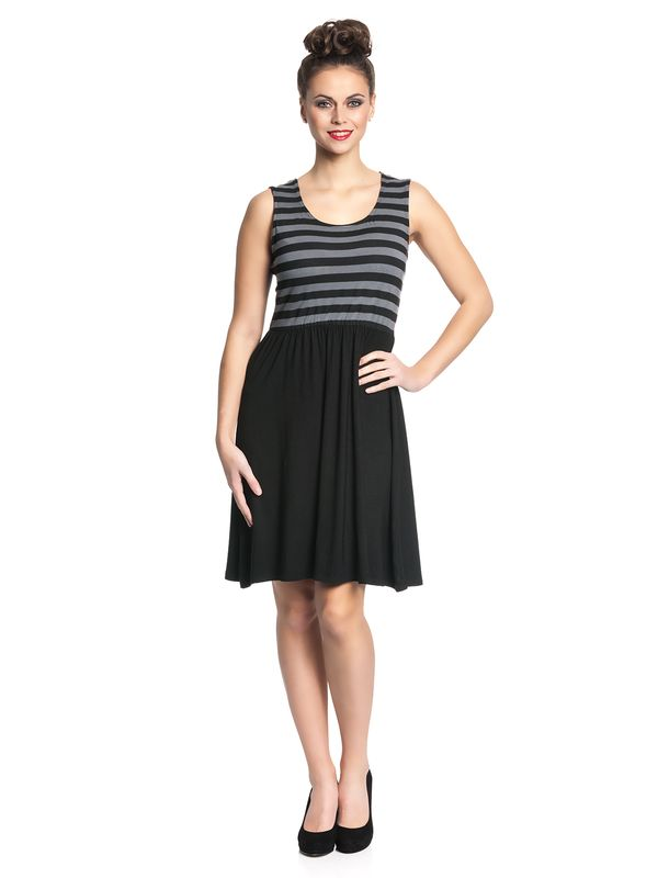 Pussy Deluxe Best Stripes Dress Kleid schwarz/grau – Bild 1