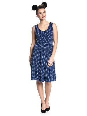 Pussy Deluxe Best Dotties Dress Kleid marine – Bild 1
