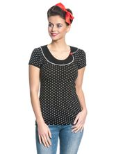 Pussy Deluxe Best Collar Dotties Shirt schwarz – Bild 1