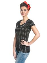 Pussy Deluxe Best Collar Dotties Shirt schwarz – Bild 2
