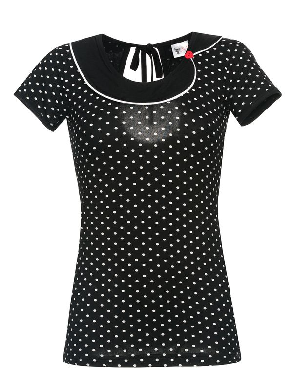Pussy Deluxe Best Collar Dotties Shirt schwarz – Bild 0