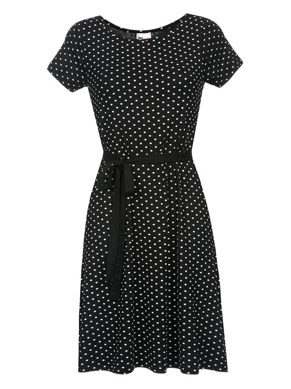 Pussy Deluxe Basic Dotties Dress Kleid schwarz – Bild 1