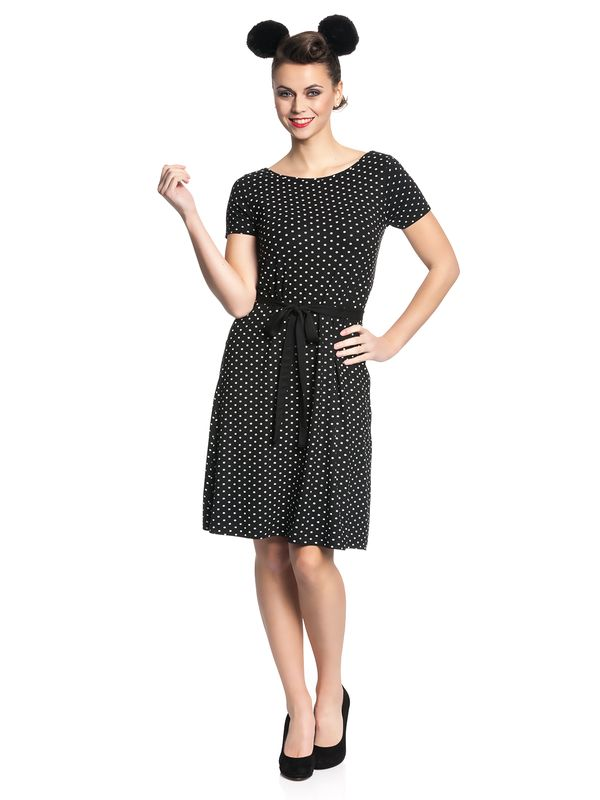 Pussy Deluxe Basic Dotties Dress black – Bild 1
