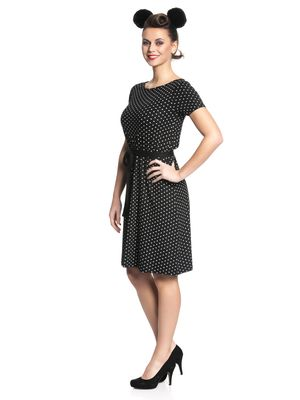 Pussy Deluxe Basic Dotties Dress Kleid schwarz – Bild 2