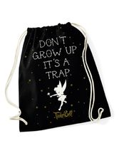Tinkerbell Don't Grow Up Gym Bag Black – Bild 0