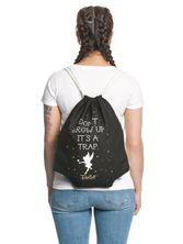 Tinkerbell Don't Grow Up Gym Bag Black – Bild 1