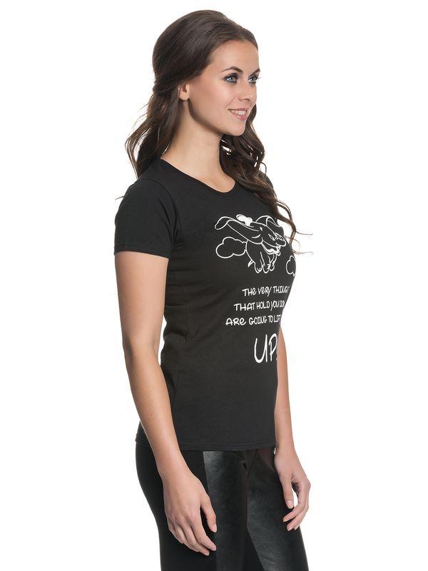Dumbo Fly Damen T-Shirt Schwarz – Bild 3
