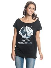 Ariel Meet Me Underwater Tee for Women Black – Bild 0
