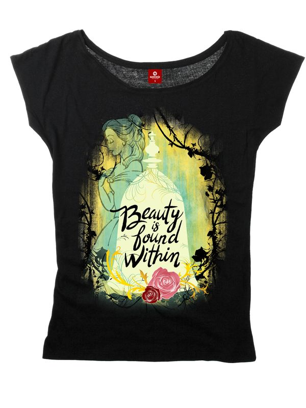 The Beauty and the Beast Beauty Is Found Within Tee for women Black – Bild 5