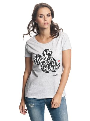 Disney Mickey Laugh At Yourself Girl Shirt grey-mel. – Bild 0