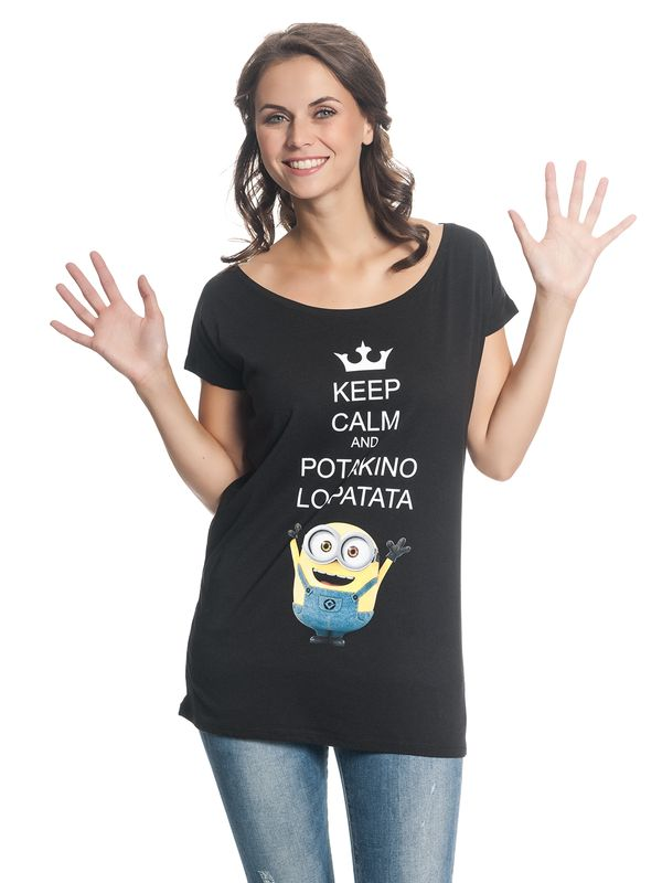 Minions Potakino Lo Patata Tee for Women Black – Bild 2