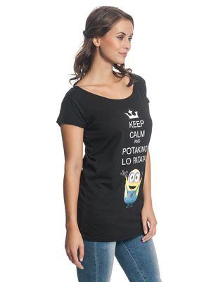 Minions Potakino Lo Patata Damen T-Shirt Schwarz – Bild 2